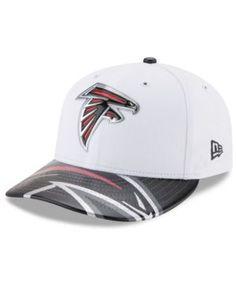 New Era Atlanta Falcons Low Profile 2017 Draft 59FIFTY Cap - White/Black/Silver 7 1/4