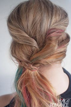 Easy twisted ponytail hairstyle tutorial – no hair ties needed!