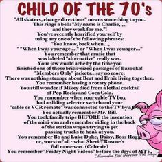 Actually some of these things are really from the 80's