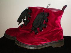 Dr. Martens Boots - - - RUBY RED VELVET