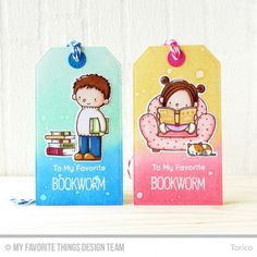 My Favorite Things - OUR STORY - Clear Stamps by Birdie Brown There's something nostalgic and sweet about snuggling up with a good book! The Our Story stamp set