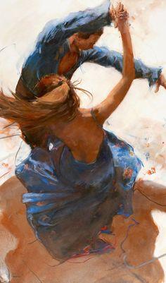 Allen Bentley painting / Dance