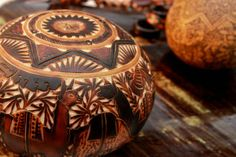 carved gourd from Peru