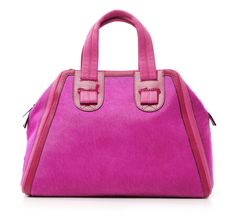 red and fuschia haircalf satchel by meredith wendell :: Roztayger :: Designer Handbags & Accessories