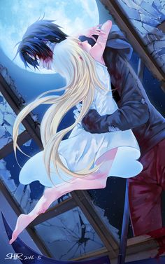 Angels of Death, Satsuriku no Tenshi; Rachel Gardner and Zack; Can't wait for the upcoming Anime Anime Angel, Angel Of Death, Manga Romance, Couple Manga, Film Manga, Satsuriku No Tenshi, Rpg Horror Games, Another Anime, Animation