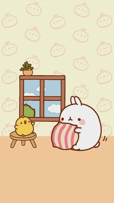 Wallpapers Kawaii, Cute Cartoon Wallpapers, Kawaii Wallpaper, Iphone Wallpaper, Gif Kawaii, Kawaii Art, Cute Kawaii Drawings, Kawaii Doodles, Cute Photos