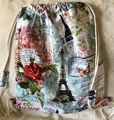 31fb5bb183909 7 Best Handmade Fabric Drawstring Backpacks images in 2018 | Gym Bag ...