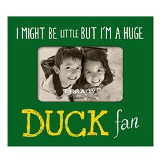 """Legacy Athletic Oregon Ducks 4"""" x 6"""" """"I Might Be Little"""" Picture Frame, Dark Green"""