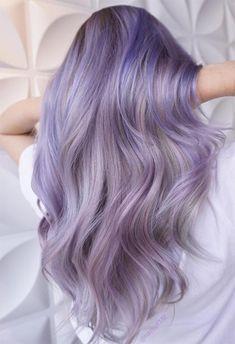 59 Lovely Lavender Hair Color Shades & Dye Tips Lilac Hair Pastel Purple Hair, Lavender Hair Colors, Hair Color Purple, Hair Dye Colors, Hair Color Shades, Cool Hair Color, Light Purple Hair Dye, Grey Hair With Purple Highlights, Silver Lavender Hair