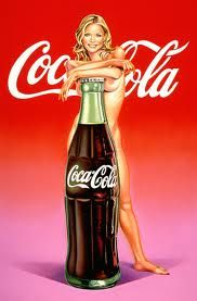 She loves a '#Coke' between her legs; of the publicity of soda #CocaCola; the posters are very good !!! ;-)