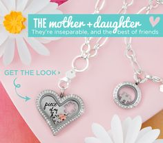 {MOTHER & DAUGHTER} They're inseparable, and the best of friends. Personalized Gifts are easy with #OrigamiOwl http://lmlockets.origamiowl.com/Valentines-Gifting.aspx
