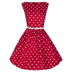 Celina Red Polka (€32) ❤ liked on Polyvore featuring red