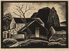 ✽ 'the dead tree' - john luke - linocut modern printmakers John Luke, Engraving Art, Painting Words, Irish Art, Pen Art, Silk Screen Printing, Art Auction, Printmaking, Artwork