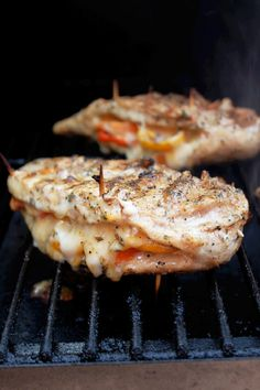 Grilled Chicken Stuffed with Cheese and Peppers -Creole Contessa
