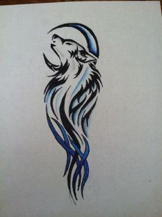 Wolf Tattoo Design by Drawing-in-pencil -See more stunning Tattoo Design at stylendesigns.com