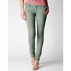 "True Religion Brand Jeans Chrissy Super Skinny 29"" Printed Jean ($198) found on Polyvore"