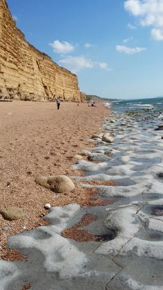 Golden cliffs at Burton Bradstock | Dorset | England