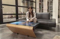 Add futuristic functionality to your statement furniture Futuristic Furniture, Home Decor Items, Real Estate, Tech, Interior, Coffee Tables, Room Ideas, Friends, Simple