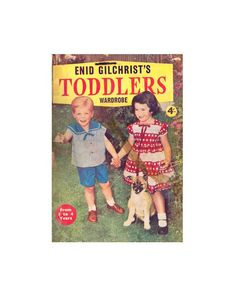 Enid Gilchrist's Toddlers Wardrobe - Drafting Book - Instant Download PDF 52 pages Pdf Patterns, Craft Patterns, Vintage Patterns, Doll Clothes Patterns, Clothing Patterns, Flower Hats, Shop Logo, Pattern Drafting, Cute Pattern