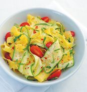 Zucchini pappardelle recipe from the new cookbook, Field to Feast: Recipes Celebrating Florida Farmers, Chefs, and Artisans