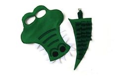 Alligator Mask and Tail Set, Crocodile Mask and Tail Set, Animal Birthday Party Favor    ******THIS LISTING IS FOR ONLY ONE