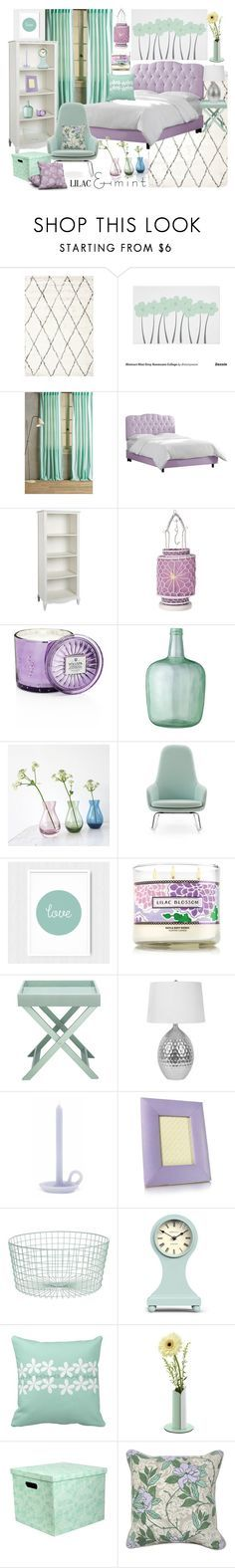 """fresh lilac and mint bedroom"" by kc-spangler ❤ liked on Polyvore featuring interior, interiors, interior design, home, home decor, interior decorating, Anthropologie, Skyline, PBteen and Cultural Intrigue"