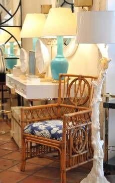 Single Vintage Bamboo Arm Chair - Mecox Gardens #PalmBeach #interiordesign #home…