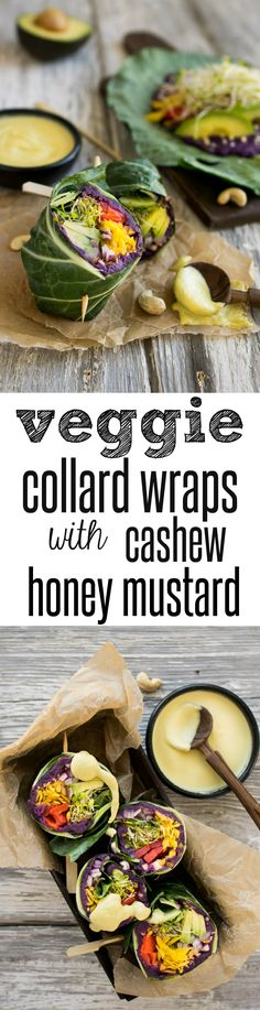 Purple Sweet Potato Collard Wraps with Cashew Honey Mustard from Reclaiming Yesterday