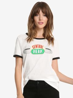 Friends Central Perk Womens Ringer Tee