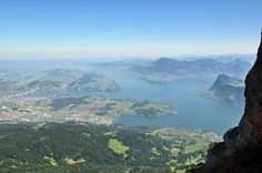 View from Pilatus to Lake Lucerne, Switzerland