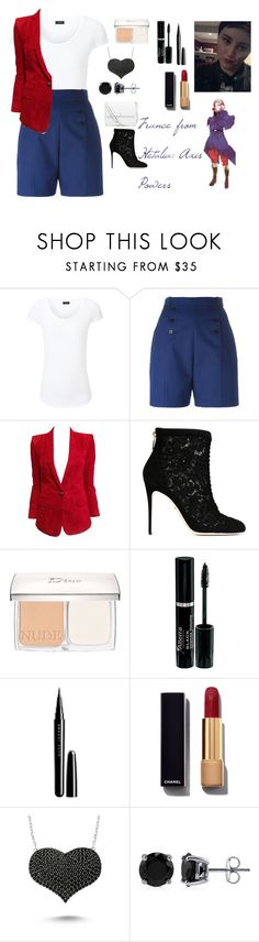 """""""France from Hetalia: Axis Powers"""" by charbear231 ❤ liked on Polyvore featuring Joseph, Carven, Balmain, Dolce&Gabbana, Christian Dior, Marc Jacobs, Chanel, Amorium, BERRICLE and Tory Burch"""