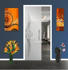 High-quality, tempered, sliding pocket glass door with frosted design and hardware. These doors are a simple solution to replace your old pocket door… Sliding Glass Door, Glass Doors, Stress Causes, Installation Manual, Glass Design, Door Design, Safety Glass, Pocket Doors