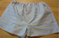Pánské trenýrky s poklopcem (střih + fotonávod) | Blog Jany Trávníčkové Patterned Shorts, Trunks, Blog, Sewing, Swimwear, Men, Internet, Tutorials, Craft Ideas