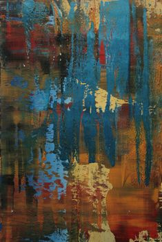 "Koen Lybaert; Oil, 2012, Painting ""abstract N° 482"""