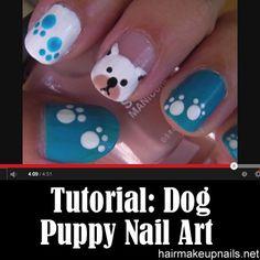 dog  puppy nail art design
