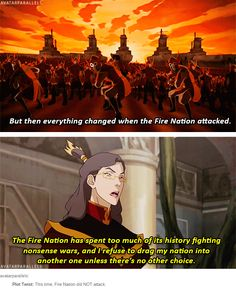 Legend of Korra/ Avatar the Last Airbender: Plot Twist: This time, Fire Nation did NOT attack.