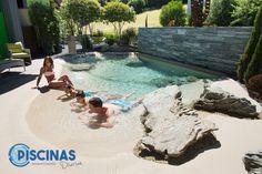 Natural Swimming Pools, Swimming Pools Backyard, Swimming Pool Designs, Pool Landscaping, Lap Pools, Natural Pools, Pool Decks, Mini Swimming Pool, Mini Piscina