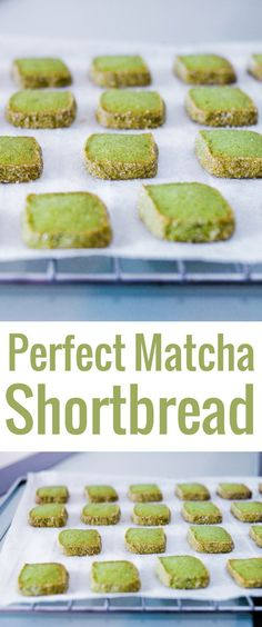Put a green tea spin on the traditional shortbread by adding some matcha powder to make these divine matcha shorbread cookies. Matcha Cookies, Chocolate Chip Shortbread Cookies, Chocolate Cookie Recipes, Shortbread Recipes, English Tea Cookies Recipe, Zucchini Cookies, Cookies Vegan, Green Tea Dessert, Sweets