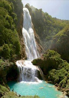 Blue River Waterfall. Guatemala