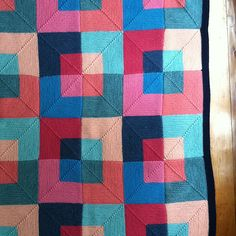 Ravelry: Project Gallery for Mitered Square Blanket pattern by Kay Gardiner and Ann Shayne
