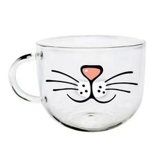Description Start your day off on the right paw with a sip from our Cat Face Mug, a glass cat coffee mug from Meowingtons. You'll be as happy as a cat in a card Face Mug, Cat Face, Cat Coffee Mug, Coffee Cups, Coffee Art, Coffee Time, Crazy Cat Lady, Crazy Cats, Mug Chat