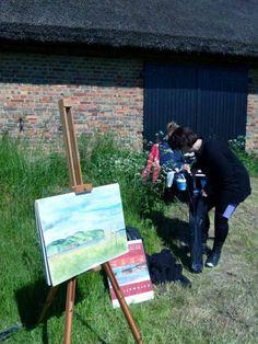 Impressionen von der Malreise nach Rügen | Malkurs auf den Boddenwiesen von Middelhagen (c) FRank Koebsch (7)