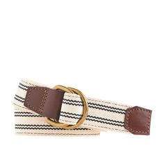 This nautical striped belt with rich leather accents will pull together all laid back looks this summer. (via @J.Crew  www.jcrew.com)