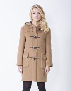 b32c8bdb0804 Duffle coat for women  trendy winter coat in a beautiful retro style.  MontgomeryGiallo SenapeCappotti Per DonnaModa Vintage