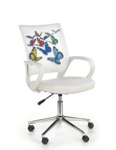 Scaun de birou pentru copii Ibis Butterfly #homedecor #interiordesign #inspiration #butterfly #kids #backtoschool #school #kidsroom Teak, Chair, Retro, Interior, Leather, Furniture, Home Decor, Design, Butterfly Kids