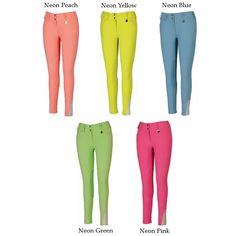 TuffRider Ladies Neon Knee Patch Breeches