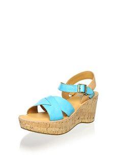 72% OFF Kork-Ease Women's Ava Classic Cross Front Cork Sandal (Turquoise)