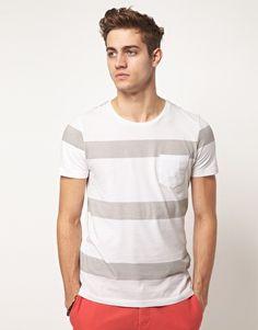 ASOS | ASOS Stripe T-Shirt With Pocket at ASOS