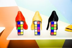 These Rubik's-cube-inspired heels absolutely scream Katy Perry. #refinery29 http://www.refinery29.com/2016/09/122765/katy-perry-footware-line#slide-3