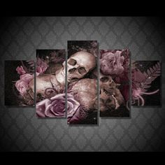 HD Printed skull and roses Painting Canvas Print room decor print poster picture canvas Free shipping/ny 2921-in Painting & Calligraphy from Home & Garden on Aliexpress.com | Alibaba Group
